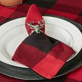Rustic Buffalo Plaid Napkins Red/Black Set of Four