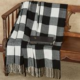 Rustic Buffalo Plaid Throw Blanket Black/White 50 x 60