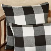 Rustic Buffalo Plaid Square Pillow Black/White 20 Square