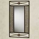 Charleston Rectangle Wall Mirror Only Bronze