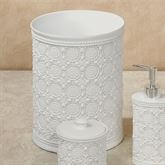 Knightsbridge Wastebasket Off White