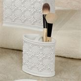 Knightsbridge Brush Holder Off White