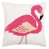 Isla Tropics Single Flamingo Hooked Pillow Multi Bright 18 Square