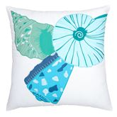 Caribbean Splash Nautilus Pillow Multi Bright 18 Square