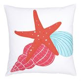 Caribbean Splash Starfish Pillow Multi Bright 18 Square