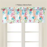 Caribbean Splash Tailored Valance Multi Bright 72 x 15.5