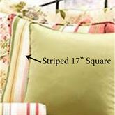 Flora Cameo Striped Pillow Golden Yellow 17 Square
