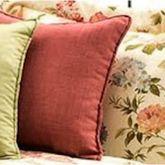 Flora Cameo Slubbed Ember Glow Pillow 17 Square
