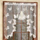 Butterflies Lace Fan Swag Valance  56 x 38