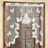 Butterflies Lace Fan Swag Valance  56 x 38