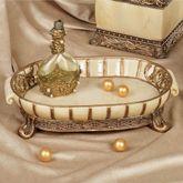 Chalmette Vanity Tray Gold/Ivory