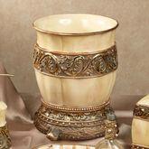 Chalmette Wastebasket Gold/Ivory