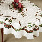 Holiday Nouveau Oval Tablecloth