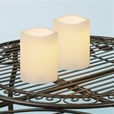 Ellie Medium Indoor Outdoor LED Candles Ivory Set of Two