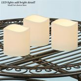 Ellie Small Indoor Outdoor LED Candles Ivory Set of Three