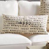 Happy Decorative Rectangle Accent Pillow Light Cream 12 x 24