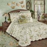 Butterfly Eden Grande Bedspread Eggshell
