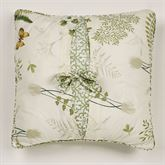 Butterfly Eden Tie Pillow Eggshell 18 Square