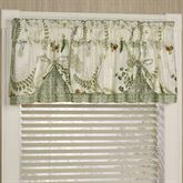 Butterfly Eden Layered Valance Eggshell 72 x 18