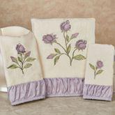 Lavender Rose Bath Towel Set Bath Hand Fingertip