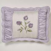 Lavender Rose Embroidered Sham