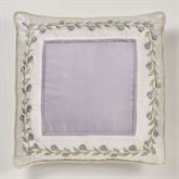 Lavender Rose Embroidered European Sham Only