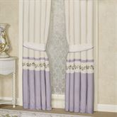 Lavender Rose Tailored Curtain Pair