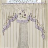 Lavender Rose 3 Piece Swag Valance Set 116 x 36