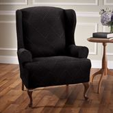 Lapeer Stretch Slipcover Black Wing Chair
