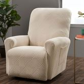 Lapeer Stretch Slipcover Cream Recliner
