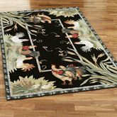 Rooster and Hens Rectangle Rug