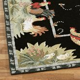 Rooster and Hens Rug Runner