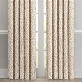 Milano Damask Wide Tailored Curtain Pair Almond 100 x 84