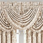 Milano Damask Waterfall Valance Almond 49 x 33