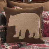 Killian Ridge Hooked Bear Pillow Cocoa 18 Square