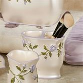 Enchanted Rose Brush Holder Lavender