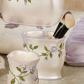 Enchanted Rose Brush Holder Lavender