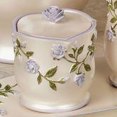 Enchanted Rose Covered Jar Lavender