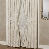 Seraphina Wide Tailored Curtain Pair Ivory
