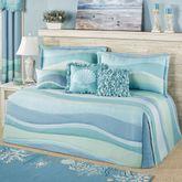 Ocean Tides II Daybed Set Cerulean Blue Daybed