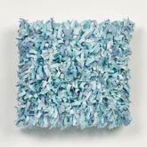 Ocean Tides II Shaggy Pillow Cerulean Blue 16 Square