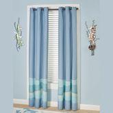 Ocean Tides II Grommet Curtain Pair Cerulean Blue 84 x 84