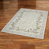 Lavender Bloom Rectangle Rug