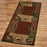 Honan Rug Runner Multi Earth 27 x 74