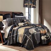 Moonlit Bear Quilt Black