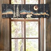 Moonlit Bear Quilted Tailored Valance Black 60 x 15