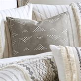 Imani Embroidered Tailored Accent Pillow Light Taupe 18 Square
