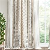 Imani Tailored Curtain Panel Light Almond 50 x 84