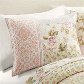 Sweet Blooms Quilted Sham Multi Pastel Standard