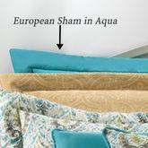 Madison Avenue Solid Aqua European Sham